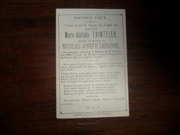 SOUVENIR PIEUX / Mme  MARIE  A. TRINTELER  / BATTICE  1886 - Avvisi Di Necrologio
