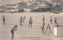 CPA  Suisse, VILLARS, Match De Hockey - VD Vaud