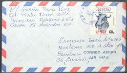 El Salvador - Cover To Spain Veterinary Aftosa 1980 Apopa - El Salvador