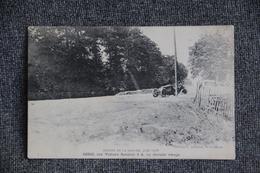 Circuit De La SARTHE, Juin 1906 - SZISZ Sur Voiture RENAULT 3 A, Au Dernier Virage. - France