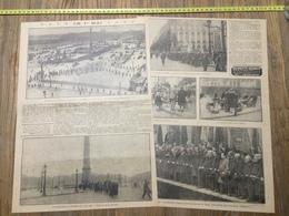 ANNEES 20/30 FETE DU PREMIER 1 ER MAI DOUAI PARIS PLACE DE LA CONCORDE MUGUET EGLANTINE ROUGE - Collections