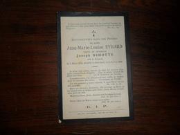 SOUVENIR PIEUX / Mme  A.M.L .EVRARD   / DINANT 1805  ETTERBEEK 1889 - Avvisi Di Necrologio