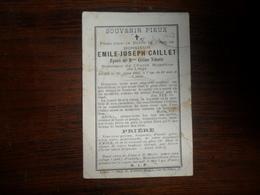 SOUVENIR PIEUX / Mr  E.J. CAILLET  / LIEGE 1883 - Avvisi Di Necrologio