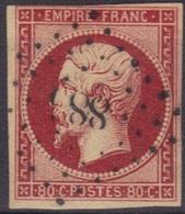 Napoléon N°17A, Ni Clair Ni Aminci, Marges Voir Scan, Cote 120 €. - 1853-1860 Napoleon III