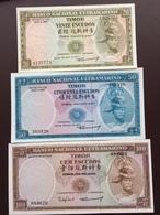 TIMOR P26-27-28 20-50-100- ESCUDOS 1967-1963 UNC - Timor