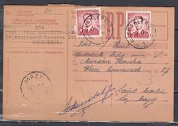 Ontvangkaart Van Charleroi G2G Naar Mazy - 1953-1972 Anteojos