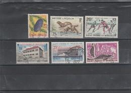 SPM  ST PIERRE ET MIQUELON JOLI  LOT  OBLITERES DONT YT 359 360 361 387 388   COTE 16.65 - Collections, Lots & Séries