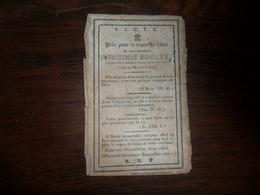SOUVENIR PIEUX / Mlle  VIRGINIE  BORLEE  /  NAMUR  1857 - Avvisi Di Necrologio