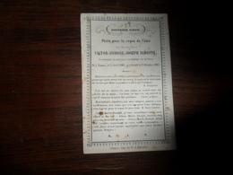 SOUVENIR PIEUX / Mr  V. I . J . NIHOTTE    /  NAMUR  1805  1863 - Avvisi Di Necrologio
