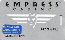 Empress Casino - Joliet IL & Hammonond IN - Slot Card Without Signature Strip - Casino Cards
