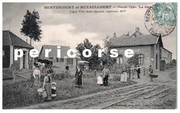 62  Bertincourt Et Ruyaulcourt  La Gare - Bertincourt