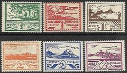 Jersey  1943-4  Views Set MH  2016 Scott Value $27 - Jersey