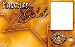 Hollywood Casino - Aurora, IL - BLANK Marquee Gold Slot Card - Casino Cards