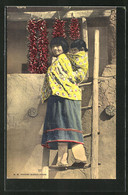 AK Mother And Her Papoose Entering Their Second Story Home, Chillis - Indianer