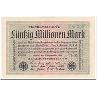 Billet, Allemagne, 50 Millionen Mark, 1923, 1923-09-01, KM:109b, NEUF - [ 3] 1918-1933 : Repubblica  Di Weimar
