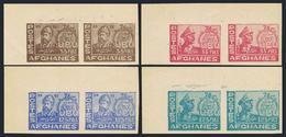 Afghanistan 394-397 Imperf Pairs.MNH.Michel 373B-376B. UPU-76,1950.Amir Sher - Afghanistan