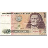 Billet, Pérou, 500 Intis, 1987, 1987-06-26, KM:134b, B - Pérou