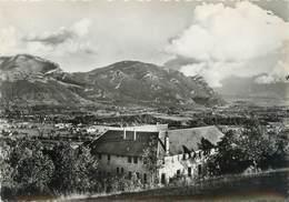 """CPSM FRANCE 73 """"Aérium Saint Louis Du Mont, Vue Sur Le Massif Des Bauges"""" - France"""
