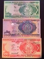 VANUATU P1-5-8  100-500-200 VATU 1982-2006 UNC - Vanuatu