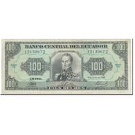 Billet, Équateur, 100 Sucres, 1988, 1988-06-08, KM:123Aa, TTB+ - Equateur