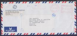 HONG KONG Postal History, Meter Franking Cover, Used 14.5.2002 From National Bank Of Pakistan - Covers & Documents