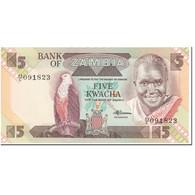 Billet, Zambie, 5 Kwacha, 1980-88, Undated (1980-1988), KM:25d, NEUF - Zaïre