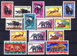 RWANDA URUNDI 1959-61 YT N° 205 à 216B + 224 ** - 1948-61: Neufs