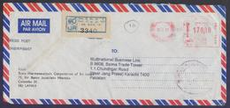 SRI LANKA Postal History, Meter Franking Cover, Registered Used 20.9.2007, From GPO - Sri Lanka (Ceylon) (1948-...)