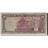 Billet, Turquie, 50 Lira, L.1930, 1951-12-01, KM:162a, B - Turquie