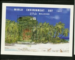 Maldives 1987 15r World Environment Day Issue #1287  MNH Souvenir Sheet - Maldives (1965-...)