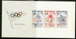 Dominican Rebublic 1957 Olympics Issue #C105a  MH Souvenir Sheet - Dominicaanse Republiek