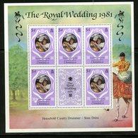 Dominica 1981 Royal Wedding Issue #703a  MNH Souvenir Sheet - Dominica (1978-...)