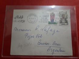 Tunis Enveloppe Circulé à Argentine 1962 - Tunisia (1956-...)