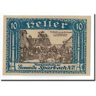 Billet, Autriche, Sparbach N'.O, 10 Heller, Paysage 1, SPL - Austria
