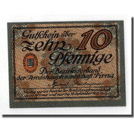 Billet, Allemagne, Pirna, 10 Pfennig, Ecusson, 1921, 1921-09-30, SPL - Germany