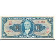 Billet, Brésil, 10 Cruzeiros, 1963, Undated (1963), KM:167a, SUP - Brazil