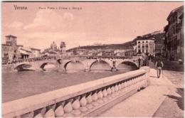 61il 950 CPA - VERONA - PONTE PIETRA E CHIESA S. GIORGIO - Verona