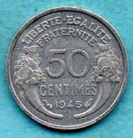 T50/  50 CENTIMES 1945 B  Morlon  Alu - G. 50 Centimes