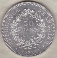 50 FRANCS HERCULE 1977 , En Argent / Silver - France