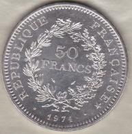 50 FRANCS HERCULE 1974 , En Argent / Silver - France