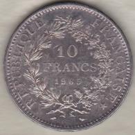 10 FRANCS HERCULE 1965 , En Argent / Silver - K. 10 Francs