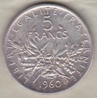 5 Francs Semeuse 1960 En Argent - France