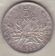 5 Francs Semeuse 1965 En Argent - France