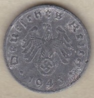 1 Reichspfennig 1943 F (STUTGART)  En Zinc - [ 4] 1933-1945 : Tercer Reich