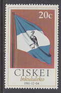 D10602 Ciskei South Africa 1981 Independence FLAG Bird Blue Cane MNH - Afrique Du Sud Afrika RSA Sudafrika - Ciskei