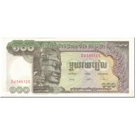 Billet, Cambodge, 100 Riels, 1975, Undated (1975), KM:8c, NEUF - Cambodia