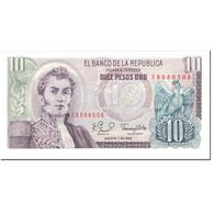 Billet, Colombie, 10 Pesos Oro, 1980, 1980-08-07, KM:407g, NEUF - Colombie