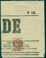FRANCE N° 40 Bb Rep 2 OBLIT TYPO S/fragment 78 X 100mm Cote Yvert 2600 €. - 1870 Ausgabe Bordeaux