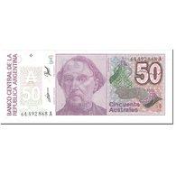 Billet, Argentine, 50 Australes, 1989, Undated (1989), KM:326b, NEUF - Argentina