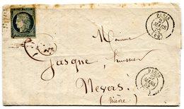 PARIS LAC Du 27/03/1852 Pour NEVERS Avec N°4 Oblitéré Etoile - 1849-1876: Classic Period